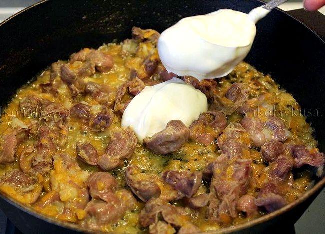 Приготовление желудков куриных рецепт