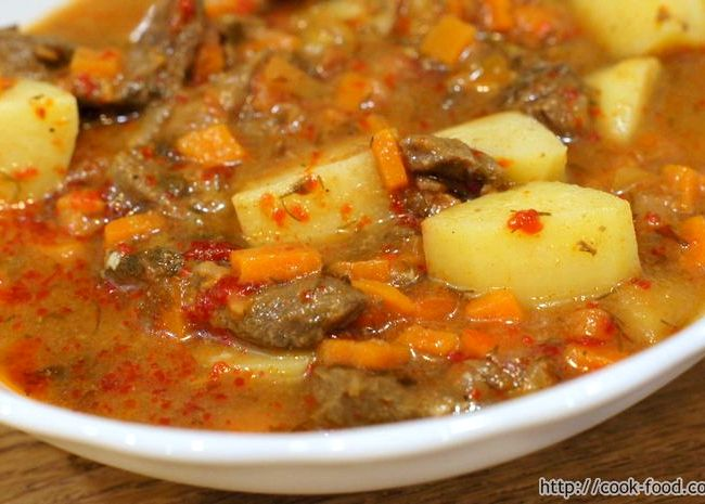 Рагу из говядины с картофелем рецепт с фото