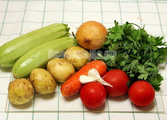 Рагу овощное с кабачками и картошкой в духовке рецепт с фото