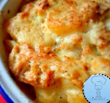 Рецепт цветной капусты с сыром в духовке