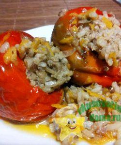Рецепт фаршированные перцы с фаршем и рисом рецепт