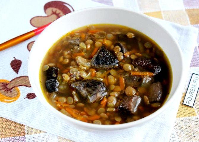 Рецепт грибного супа из замороженных грибов с фото