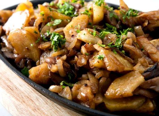Рецепт грибы с картошкой жареные рецепт