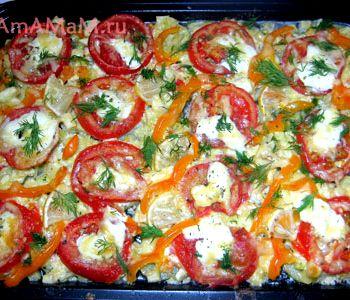 Рецепт кабачки с помидорами в духовке рецепт с фото