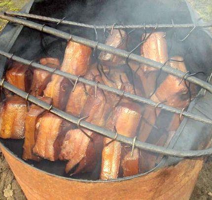 Рецепт копчения сала в коптильне горячего копчения