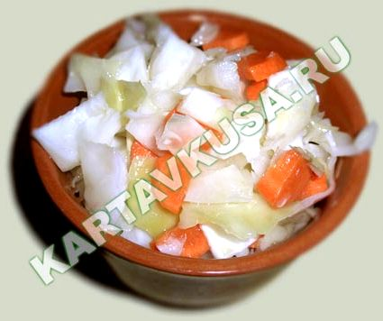 Рецепт маринованной капусты быстрого приготовления