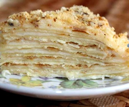 Рецепт наполеона классический с заварным кремом