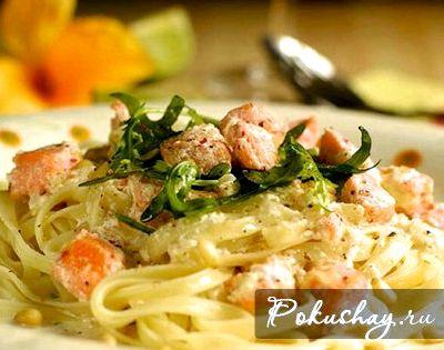 Рецепт пасты с морепродуктами в сливочном соусе