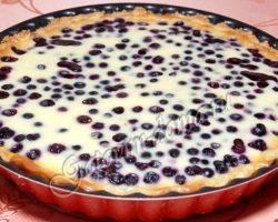 Рецепт пирог с черникой рецепт с фото пошагово