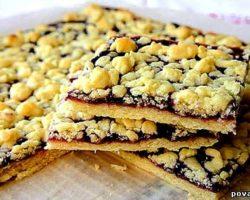 Рецепт пирога с вареньем с песочного теста