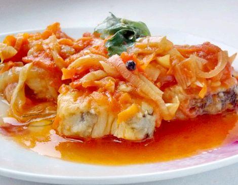 Рецепт рыбы под маринадом с морковью и луком