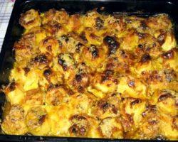 Рецепт с фото картофель с фаршем в духовке