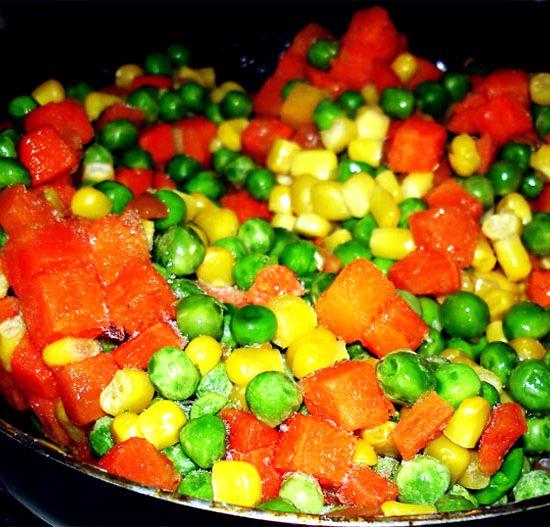 Рецепт с замороженными овощами рецепт с фото