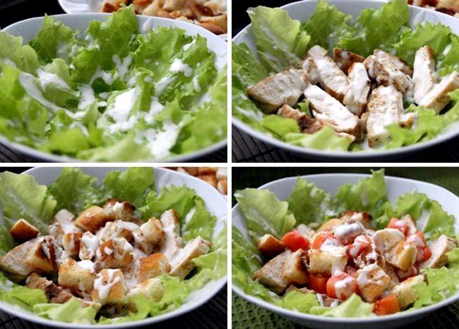 Рецепт салат цезарь с курицей классический простой рецепт