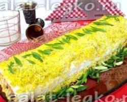Рецепт салат мимоза с консервой и сыром