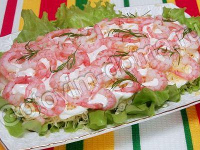 Рецепт салат с морепродуктами фото рецепт