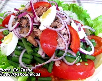 Рецепт салат с тунцом диетический рецепт