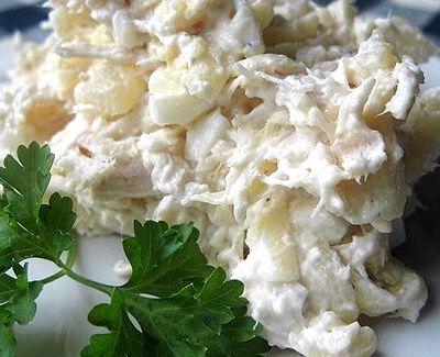 Рецепт салата с грудкой куриной и ананасами