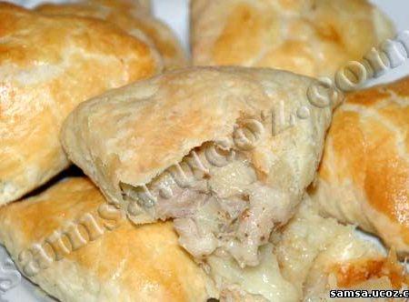 Рецепт самсы с тыквой и фаршем куриным фото