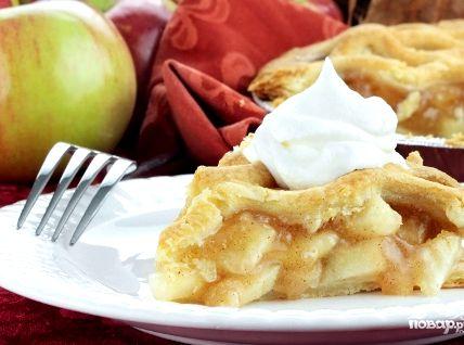 Рецепт шарлотка с яблоками на сметане