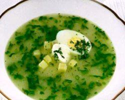 Рецепт щавелевого супа с курицей и яйцом