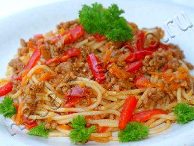 Рецепт спагетти с фаршем рецепт с фото