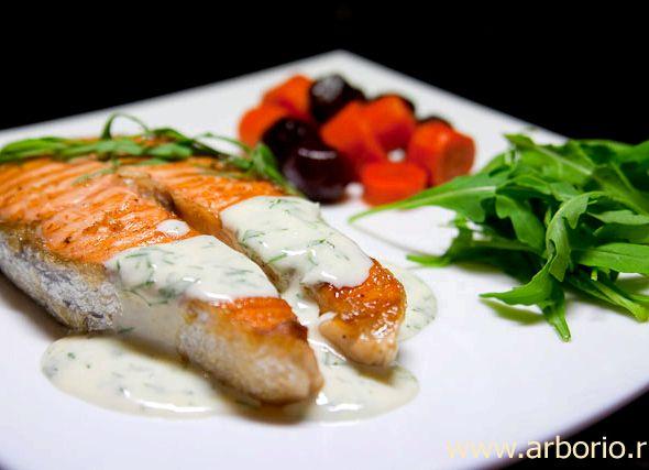 Рецепт стейк из лосося в духовке с фото