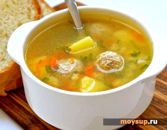 Рецепт суп с фрикадельками из куриного фарша с фото