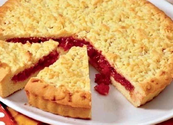 Рецепт теста для песочного пирога с вареньем