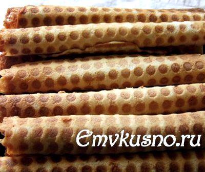 Рецепт теста для вафельных трубочек в вафельнице