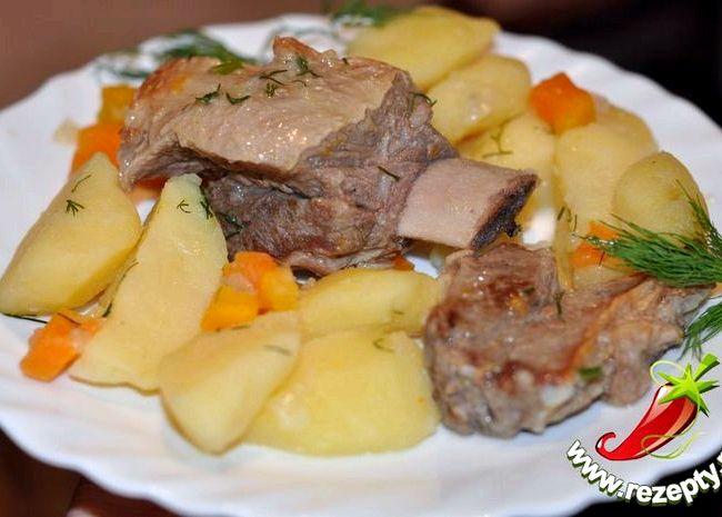 Рецепт тушеные ребрышки с картошкой рецепт с фото