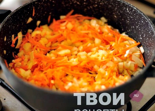 Рис на сковороде с фаршем рецепт с фото