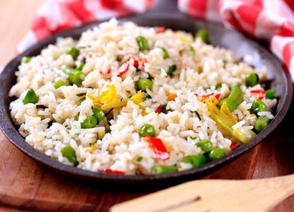Рис с овощами рецепт с фото пошагово на сковороде