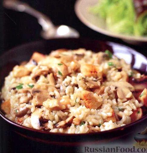 Ризотто рецепт классический с грибами и курицей