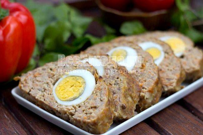 Рулет с фаршем и яйцом рецепт с фото