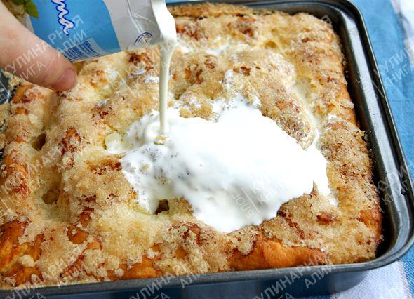 Сахарный пирог рецепт с фото со сливками