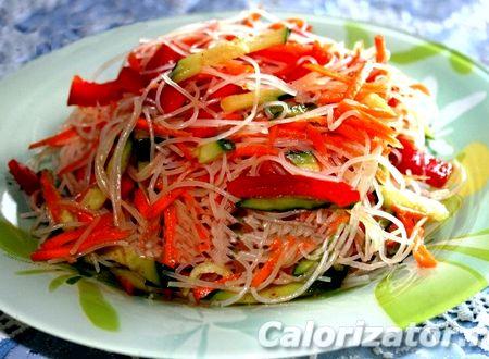 Салат фунчоза с овощами рецепт с фото