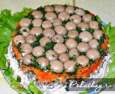 Салат грибная поляна рецепт пошаговый