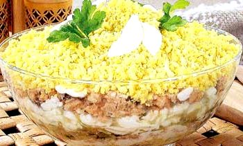 Салат мимоза пошаговый рецепт классический