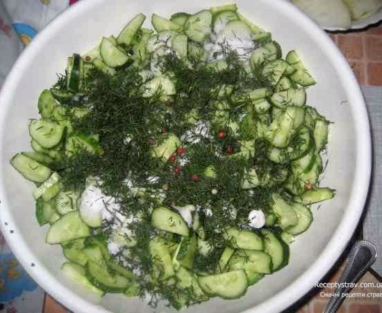 Салат ніжинський з огірків рецепт салата консервованого
