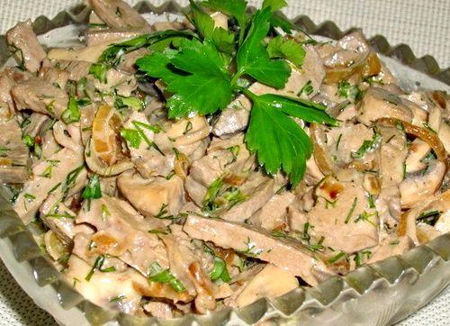 Салат печеночный салат рецепт с фото