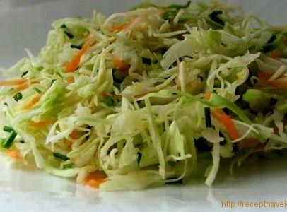 Салат с капустой и огурцом рецепт с фото