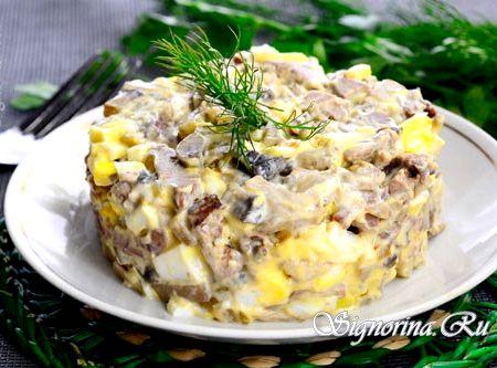 Салат с куриной печени рецепт с фото
