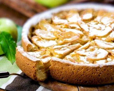 Шарлотка с яблоками рецепт на кефире рецепт