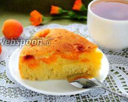 Шарлотка в мультиварке с абрикосами рецепт с фото