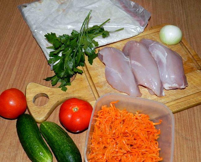 Шаурма по по-домашнему рецепт с курицей