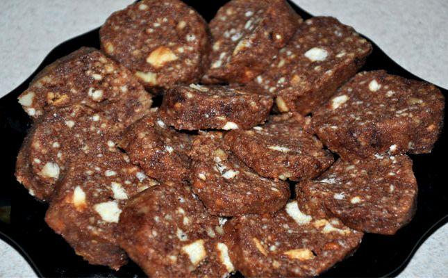 Шоколадная колбаса из печенья пошаговый рецепт
