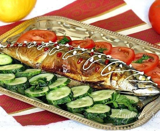Скумбрия в духовке в фольге пошаговый рецепт с фото