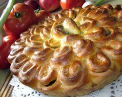 Сладкий пирог хризантема пошаговый рецепт с фото