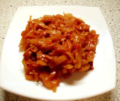 Солянка в мультиварке рецепт из капусты с сосиской